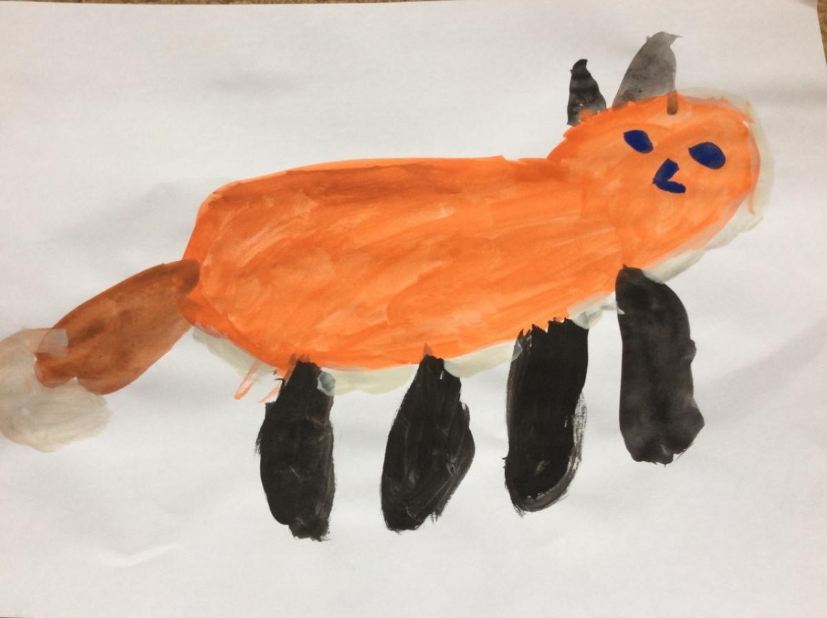 Fox With Big Black Legs 1