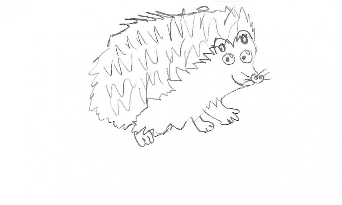 Hedgehog Pencil Cheeky 1