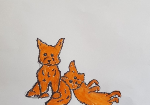 Foxcubs Lounging 1