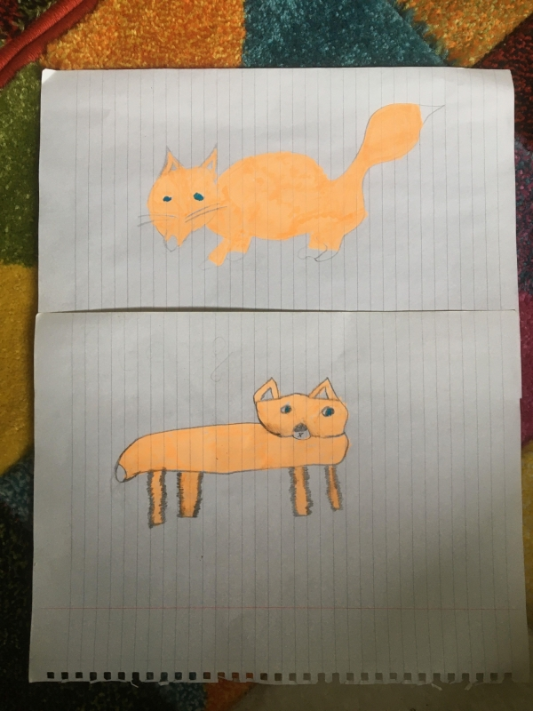 Foxes On Lined Paper 1