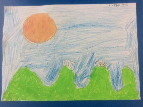 Landscape Crayon 1