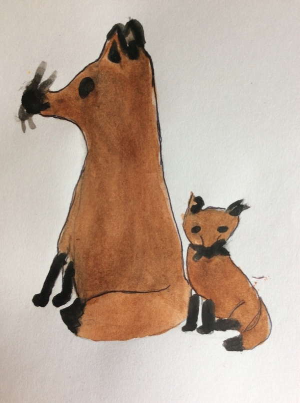 Vixen With Foxcub 1